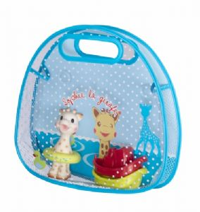 Sophie la girafe bath set (in basket)